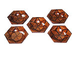 Set of Muku hexagonal saucers