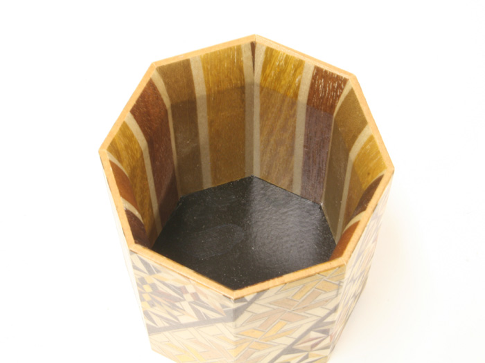 Yosegi pencil Holder Octagon Koyosegi