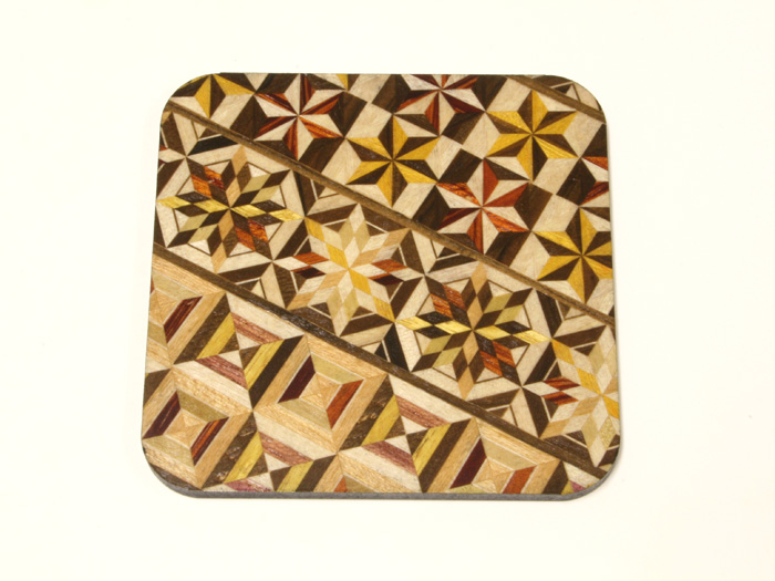 Yosegi Coaster Square 5 pieces