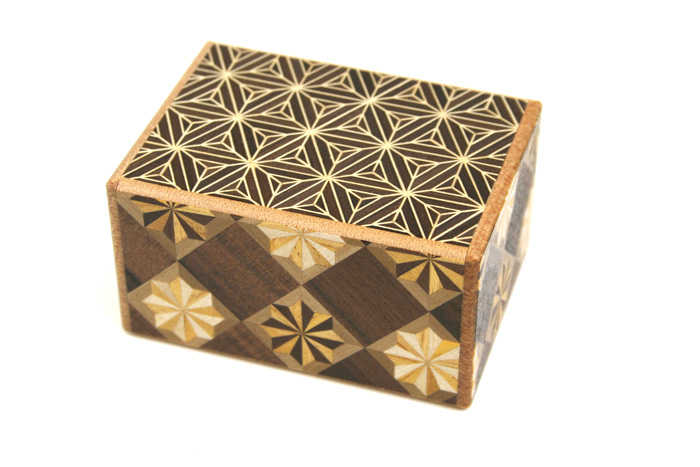 Japanese Puzzle Box 4steps 3sun Yaeasa small