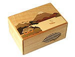 Japanese Puzzle Box 7steps Fuji and Camellia