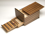 Japanese puzzle box 7steps with sound drawers