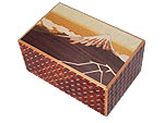 Japanese Puzzle Box 10steps Fjisan and Crane