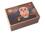 Japanese Puzzle Box 10steps Owls
