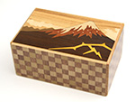 Japanese puzzle box 10steps Kaminari-Fuji and Tsubaki