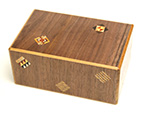 Japanese Puzzle Box 10steps Brown