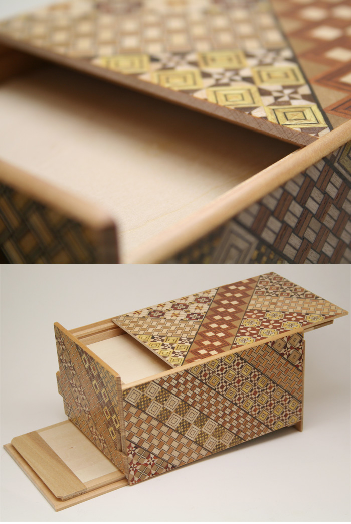 Japanese puzzle box 14steps Koyosegi (dual compartment)