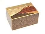 Japanese puzzle box 14steps Akafuji (dual compartment)