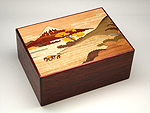 Japanese puzzle box 21+1steps Hakone (red)