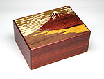 Japanese puzzle box 21+1steps Akafuji (red)