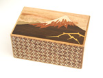 Japanese puzzle box 21steps Kaminari-Fuji and Tsubaki