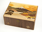 Japanese puzzle box 21+1steps 5.5sun Ashinoko and Paeonia lactiflora