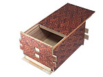 Japanese Puzzle Box 54steps with secret compartment Akasaya
