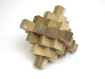 Japanese wooden puzzle 19pieces